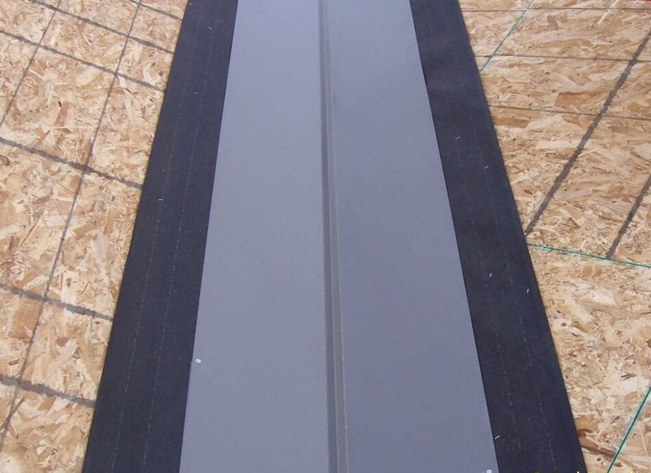 Installation of metal valley flashing: Valley one